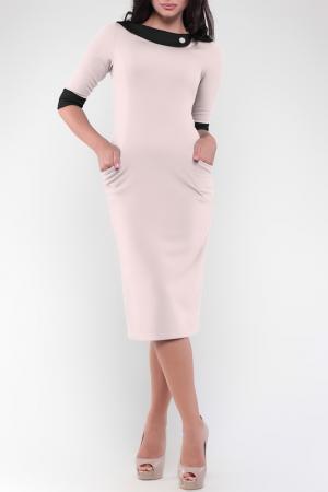 Платье MAURINI. Цвет: бежевый, черный