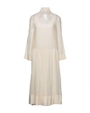 Длинное платье ALYSI. Цвет: слоновая кость