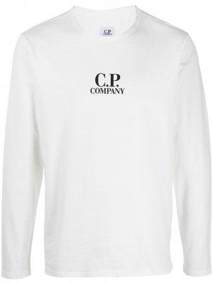 Футболка с длинными рукавами и логотипом C.P. Company. Цвет: белый