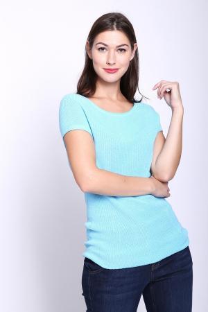 Пуловер Marc Cain. Цвет: голубой