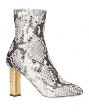 Полусапоги и высокие ботинки DSQUARED2. Цвет: серый