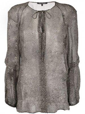 Полупрозрачная блузка с леопардовым принтом Luisa Cerano