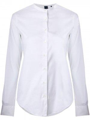 Рубашка без воротника Aspesi. Цвет: белый