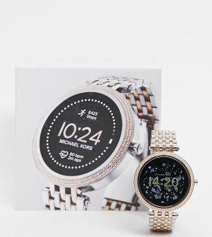 Женские спортивные смарт-часы с темно-синим циферблатом Gen 5 MKT5129-Серебристый Michael Kors