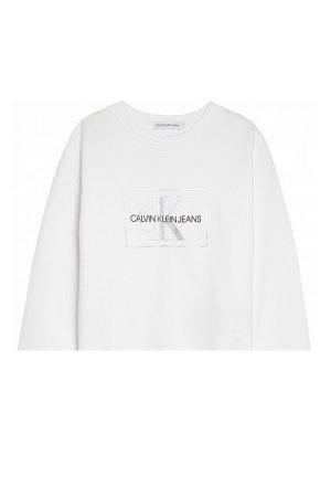 Джемперы и кардиганы Calvin Klein Jeans. Цвет: белый