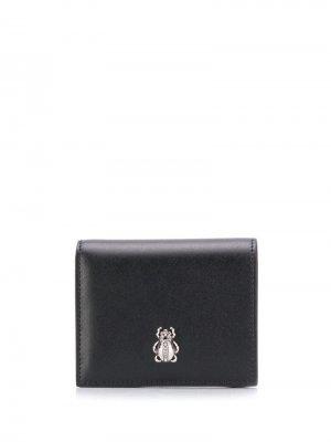 Бумажник с декором в форме жука Alexander McQueen. Цвет: черный