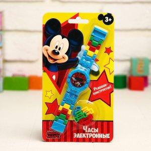 Часы наручные лего, микки маус, с ремешком-конструктором Disney