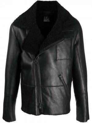 Zip-up leather jacket Ann Demeulemeester. Цвет: черный