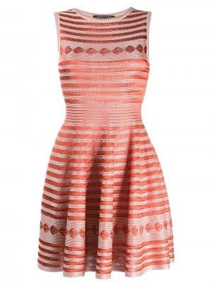 Расклешенное платье с вышивкой Antonino Valenti