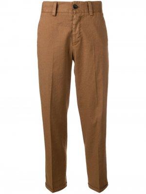 Укороченные брюки чинос строгого кроя Pt01. Цвет: коричневый