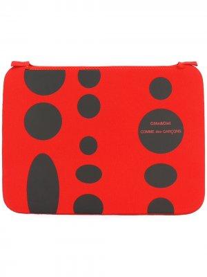 Чехол для MacBook Pro 15 с геометрическим принтом Comme Des Garçons Wallet. Цвет: красный