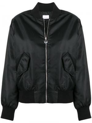 Куртка-бомбер с принтом на спине Chiara Ferragni. Цвет: черный