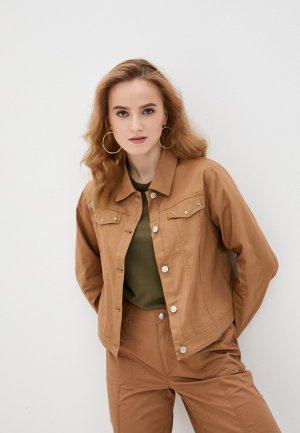 Куртка джинсовая Micha. Цвет: коричневый