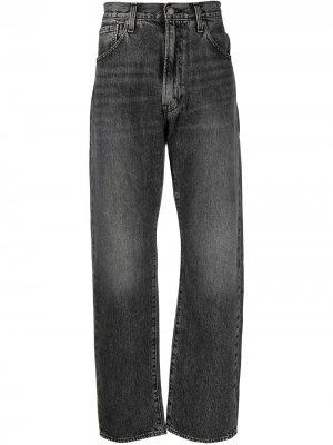 Levis прямые брюки с завышенной талией Levi's. Цвет: черный