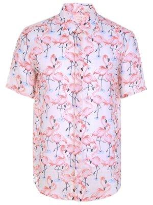 Рубашка slim fit с принтом MARC JACOBS