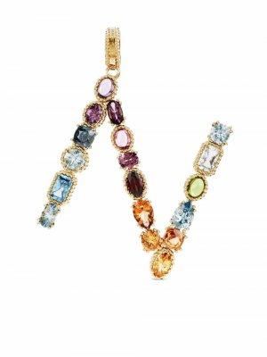 Подвеска Rainbow Alphabet N из желтого золота Dolce & Gabbana. Цвет: золотистый
