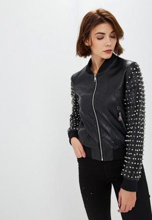 Куртка кожаная Met. Цвет: черный