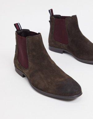 Коричневые замшевые ботинки челси -Коричневый цвет Ben Sherman