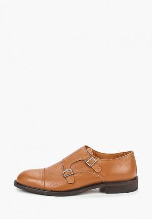 Туфли Selected Homme. Цвет: коричневый