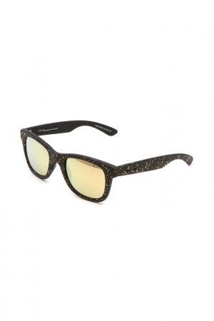 Очки солнцезащитные с линзами Italia Independent. Цвет: 009 120 черный, желтый