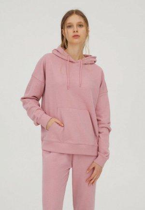 Худи Pull&Bear Join Life. Цвет: розовый