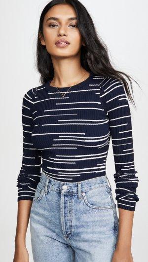 Broken Stripe Crew Sweater Autumn Cashmere