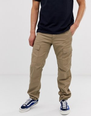 Бежевые узкие брюки-карго -Бежевый Carhartt WIP