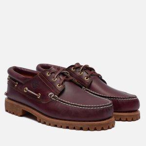 Мужские ботинки Authentics 3-Eye Timberland. Цвет: бордовый