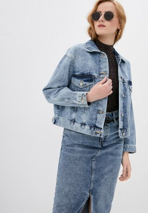 Куртка джинсовая Ostin O'stin LB1X11. Цвет: голубой