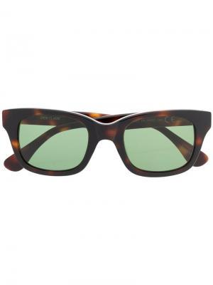 Солнцезащитные очки в квадратной оправе Epos. Цвет: коричневый
