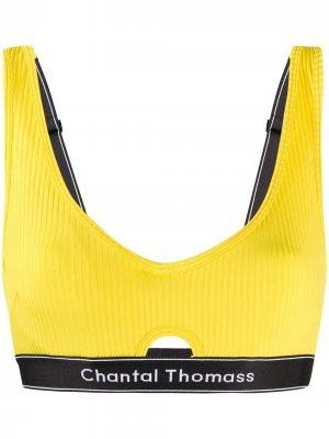 Бюстгальтер Honore с логотипом Chantal Thomass. Цвет: желтый