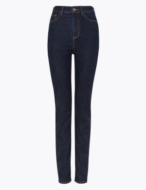 Мягкие прямые джинсы Sophia M&S Collection. Цвет: индиго микс