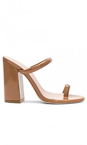 Туфли на каблуке с открытым носком brindis RAYE. Цвет: цвет загара