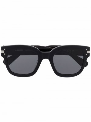 Солнцезащитные очки трапециевидной формы AMIRI. Цвет: черный
