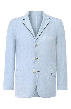 Льняной пиджак 120% Lino. Цвет: голубой