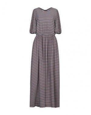 Длинное платье AMERICAN VINTAGE. Цвет: темно-синий