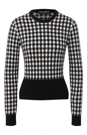 Кашемировый пуловер Dolce & Gabbana. Цвет: черно-белый