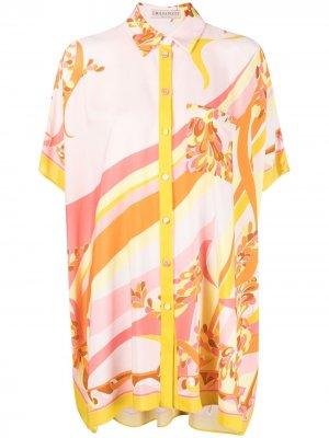 Рубашка с принтом Lily Emilio Pucci. Цвет: оранжевый