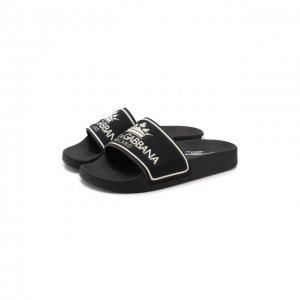 Шлепанцы Dolce & Gabbana. Цвет: чёрный