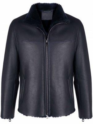 Куртка с высоким воротником Desa Collection. Цвет: синий