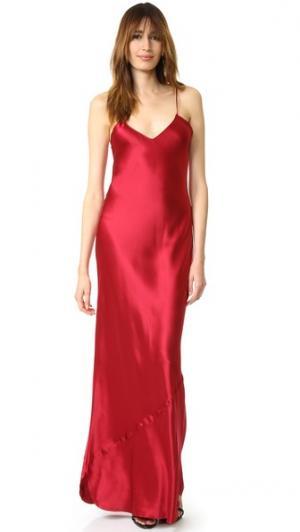 Вечернее платье в стиле майки Nili Lotan. Цвет: испанский красный