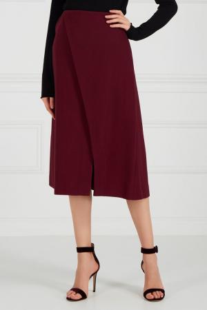 Бордовая юбка с запахом Chapurin. Цвет: красный
