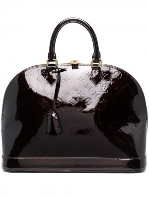 Сумка-тоут Amarante Vernis Alma pre-owned Louis Vuitton. Цвет: коричневый