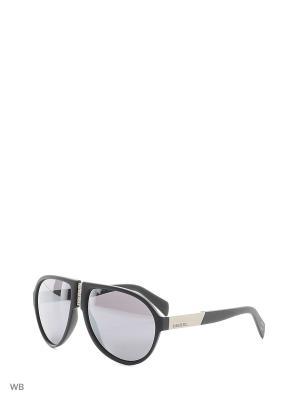 Солнцезащитные очки DL 0093 02C Diesel. Цвет: серебристый, черный