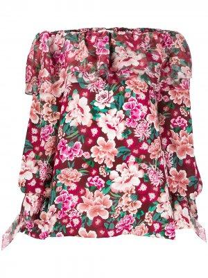 Платье-туника с цветочным принтом Faith Connexion. Цвет: красный