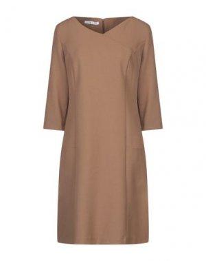 Платье до колена CARACTÈRE. Цвет: верблюжий