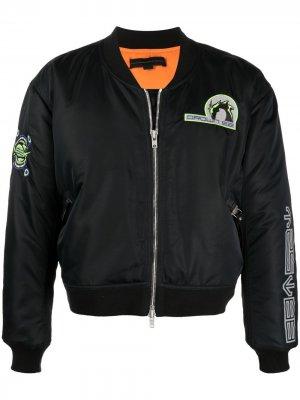 Куртка-бомбер с нашивкой-логотипом Sankuanz. Цвет: черный