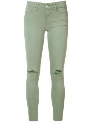 Рваные джинсы кроя скинни Joes Jeans Joe's. Цвет: зелёный