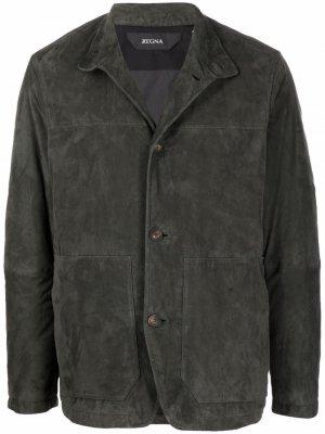 Куртка на пуговицах Z Zegna. Цвет: серый