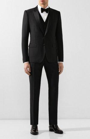Шерстяной смокинг-тройка Dolce & Gabbana. Цвет: чёрный